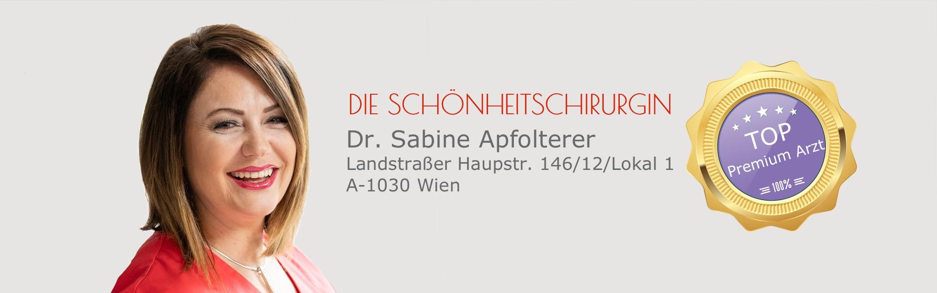 Dr. Sabine Apfolterer, MBA - Die Schönheitschirurgin
